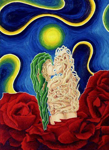 34 nemesi della sposa mancata - nemesis of the spinster / olio su lino - oil on linen / 80 x 58 / ottobre - october 2012 / codice - code 29