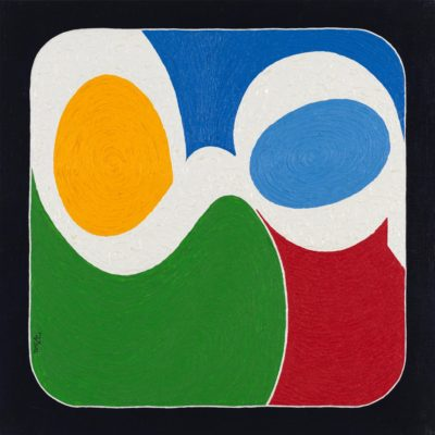 47 g-duck / olio su lino - oil on linen / 50 x 50 - 2012 / codice - code 42