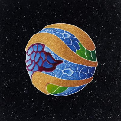 48 was the earth / olio su lino - oil on linen / 50 x 50 - 2012 / codice - code 43
