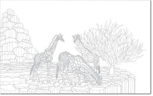 DISEGNO ORIGINALE PER L'OPERA / ORIGINAL DRAWING FOR PAINTING / le tre grazie - the three gracies / china su carta - ink on paper / 75 x 120 - 2012