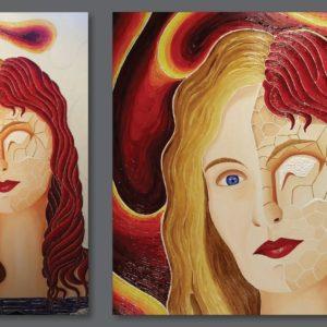 francesco visalli ritratto di donna detail 030