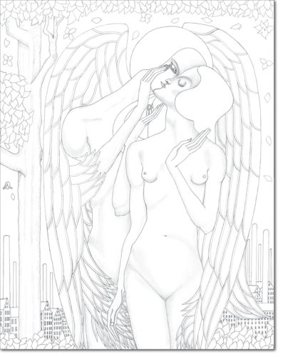 "PROGETTO - PROJECT ""JAN TOOROP"" DISEGNO ORIGINALE PER L'OPERA - ORIGINAL DRAWING FOR PAINTING / the proposal / matita su carta - pencil on paper / 71,4 x 56,1 / 2016"