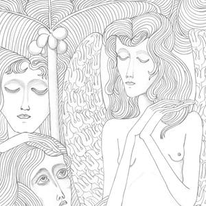 francesco visalli img disegno progetto jan toorop disegno per una illustrazione in olandese indonesiano
