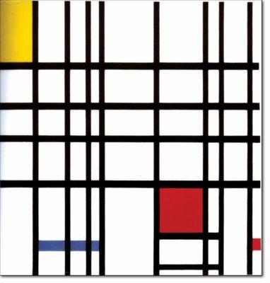 36 - B308 /  composizione con giallo blu e rosso - 1937 / 1942