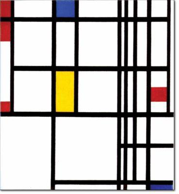 37 - B310 /  composizione con rosso blu e giallo - 1937 / 1942