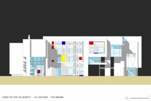 francesco visalli inside mondriaan v house Elevation EAST colors piet mondrian