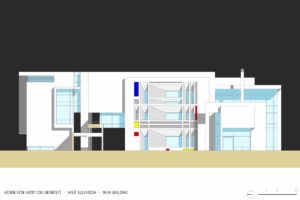 francesco visalli inside mondriaan v house Elevation WEST colors piet mondrian