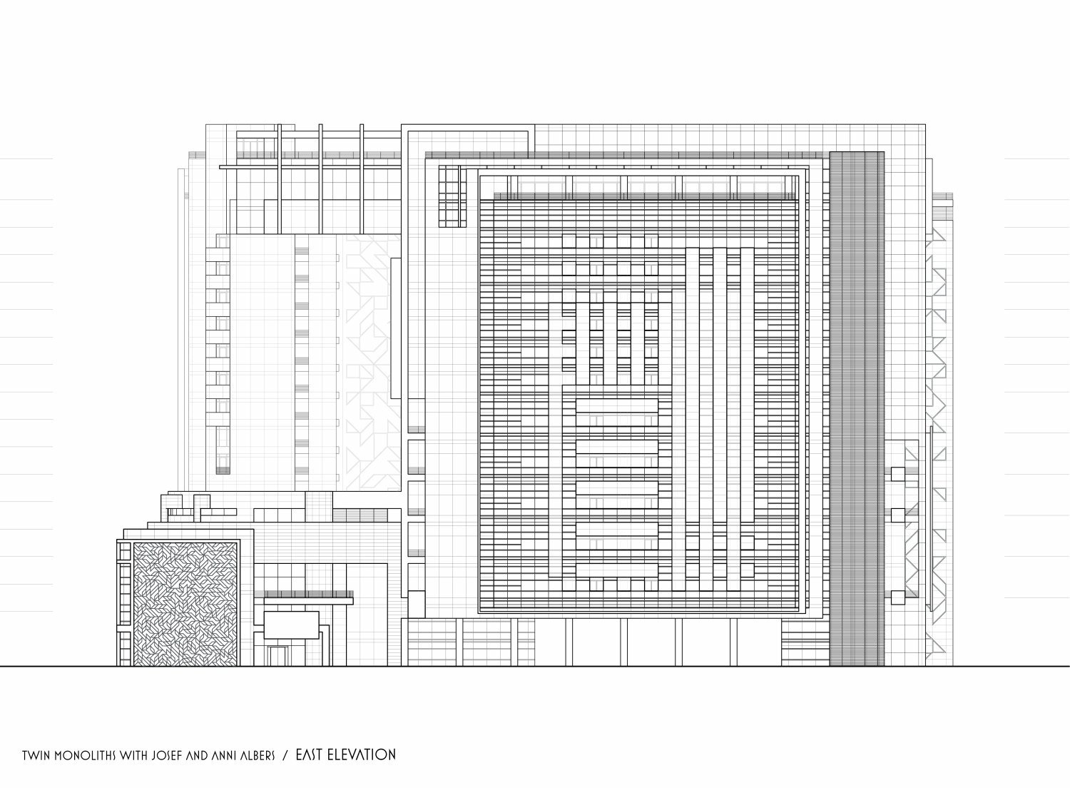 francesco visalli josef and anni albers project twin monoliths east elevation iosef and anni albers
