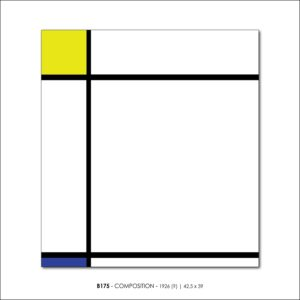 MONDRIAN B175 COMPOSITION 1926 FRANCESCO VISALLI