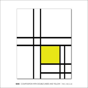 MONDRIAN B242 COMPOSITION WITH DOUBLE LINEES AND YELLOW 1934 FRANCESCO VISALLI