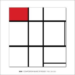 MONDRIAN B245 COMPOSITION BLANC ET ROUGE 1936 FRANCESCO VISALLI