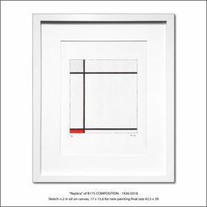 The Disappeared Mondrians Sketches Gallery40 Francesco Visalli Piet Mondrian