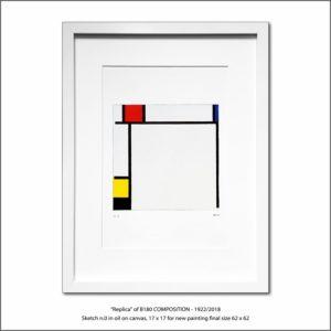 The Disappeared Mondrians Sketches Gallery42 Francesco Visalli Piet Mondrian