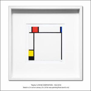 The Disappeared Mondrians Sketches Gallery44 Francesco Visalli Piet Mondrian