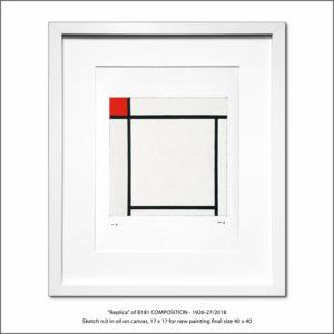 The Disappeared Mondrians Sketches Gallery45 Francesco Visalli Piet Mondrian