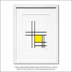 The Disappeared Mondrians Sketches Gallery50 Francesco Visalli Piet Mondrian