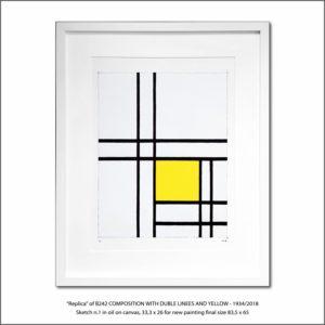 The Disappeared Mondrians Sketches Gallery51 Francesco Visalli Piet Mondrian