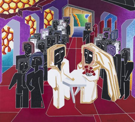 """24 le nozze """"2"""" - the wedding """"2"""" / olio su tela - oil on canvas / 119 x 132 / aprile - april 2011 / codice - code 19"""