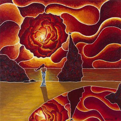 31 paradiso e oblio / paradise and oblivion / olio su lino - oil on linen  / 58 x 58 / marzo - march 2012 / codice - code 26