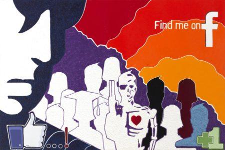 41 find me on... / olio su lino - oil on linen / 60 x 90 - 2012 / codice - code 36