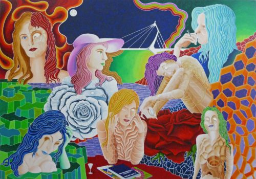 54 RITRATTO DI DONNA - PORTRAIT OF WOMAN / olio su lino - oil on linen / 280 x 400 / aprile - april 2015 / codice - code 49