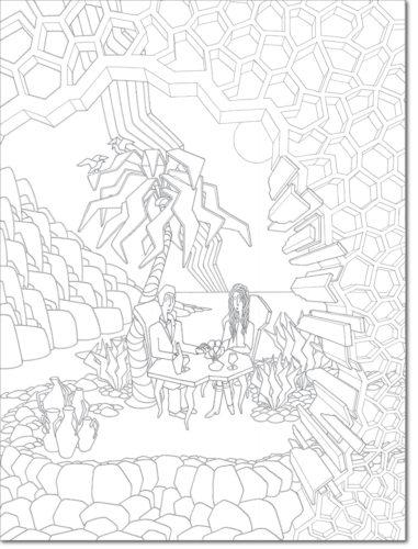 DISEGNO ORIGINALE PER L'OPERA / ORIGINAL DRAWING FOR PAINTING / l'aperitivo - the aperitif / china su carta - ink on paper / 100 x 75 - 2011