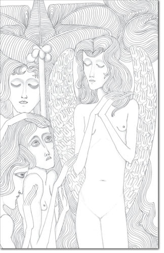 "PROGETTO - PROJECT ""JAN TOOROP"" DISEGNO ORIGINALE PER L'OPERA - ORIGINAL DRAWING FOR PAINTING / disegno per una illustrazione in Olandese-Indonesiano / drawing for an illustration Dutch-Indonesian / matita su carta - pencil on paper / 56 x 35,6 / 2016"