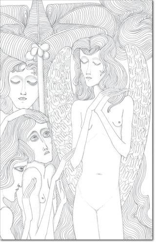 """PROGETTO - PROJECT """"JAN TOOROP"""" DISEGNO ORIGINALE PER L'OPERA - ORIGINAL DRAWING FOR PAINTING / disegno per una illustrazione in Olandese-Indonesiano / drawing for an illustration Dutch-Indonesian / matita su carta - pencil on paper / 56 x 35,6 / 2016"""