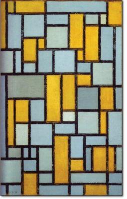 02 - b95 /  Composizione con griglia 1 - 1918