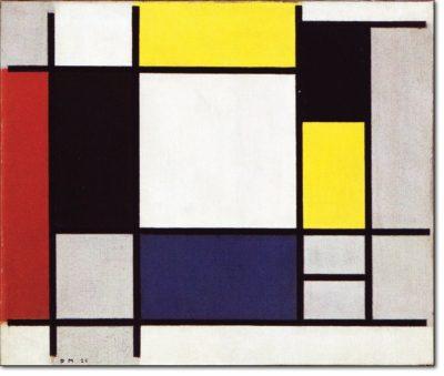 04 - b114 /  Composizione con giallo rosso nero blu e grigio - 1920