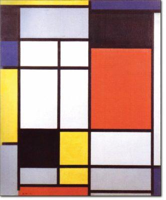 06 - B116 /  Composizione con giallo blu nero rosso e grigio - 1921