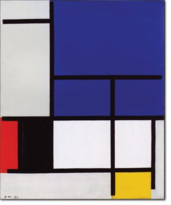 07 - B117 /  Composizione con grande piano blu - 1921