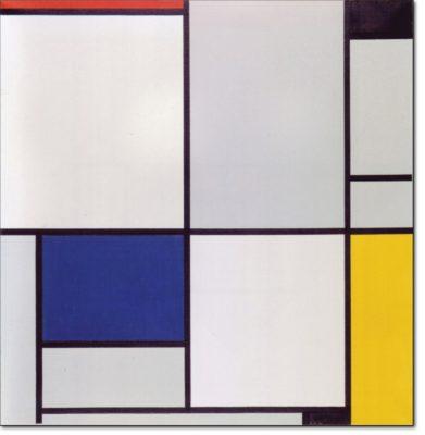 09 - B128 /  tableau i con rosso nero blu e giallo - 1921