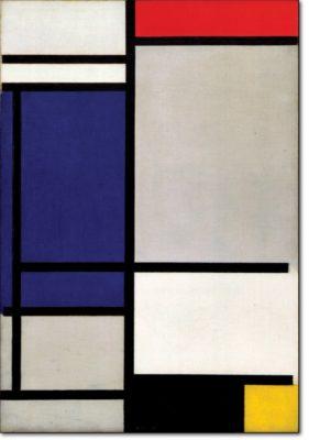 10 - B132 /  composizione con rosso blu nero giallo e grigio - 1921