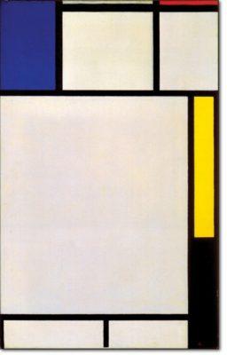11 - B142 /  composizione con blu rosso giallo e nero - 1922