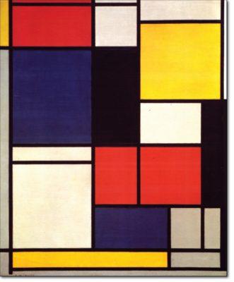 14 - B154 /  composizione con rosso blu nero giallo e grigio / 1921 - 1925