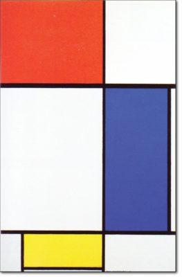 18 - B201 /  grande composizione coN rosso blu e giallo - 1928