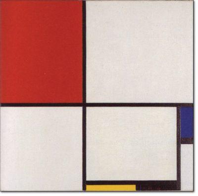 20 - B213 /  composizione iii coN rosso blu giallo e nero - 1929