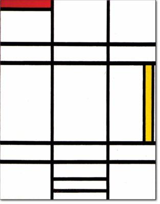 27 - B265 /  composizione con giallo e rosso - 1936