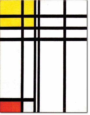 31 - B273 /  composizione con rosso e giallo - 1937