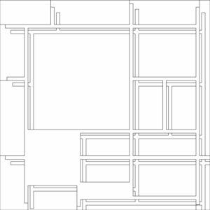 francesco visalli inside mondriaan project B130 disegno 2 piet mondrian