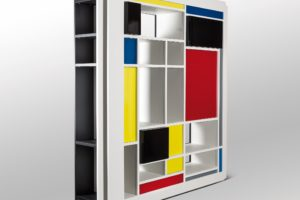 francesco visalli inside mondriaan design Bi Side library wall bianco 2 piet mondrian