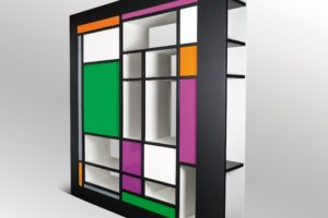 francesco visalli inside mondriaan design Bi Side library wall nero 2 piet mondrian