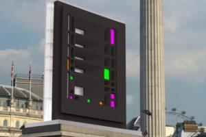 francesco visalli inside mondriaan project monolith fourth plinth Rendering Trafalgare Square Visalli piet mondrian