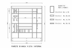 francesco visalli inside mondriaan project monolite bifronte B321 P telai lato bianco piet mondrian