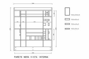 francesco visalli inside mondriaan project monolite bifronte B321 P telai lato nero piet mondrian