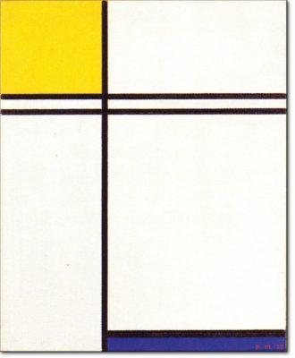75 NEW - B238 / COMPOSIZIONE CON DOPPIA LINEA, CON GIALLO E BLU - 1933
