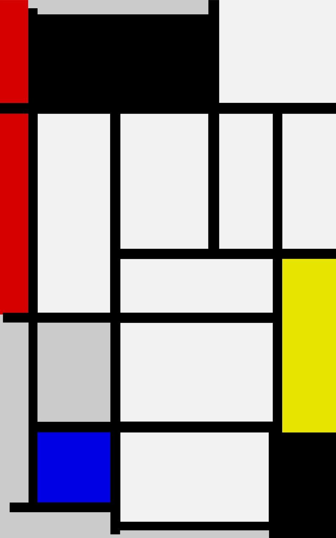 05 - B115 Composizione con rosso nero giallo blu e grigio
