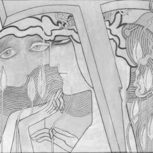 francesco visalli jan toorop project Desire and Satisfaction original drawing jan toorop