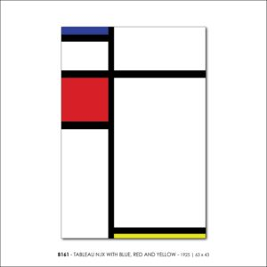MONDRIAN B161 TABLEAU N.IX WITH BLUE, RED AND YELLOW 1925 FRANCESCO VISALLI